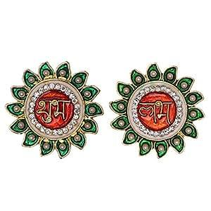 Mela Metal Meena Plated Auspicious Shubh Labh Symbols