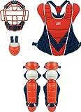 ZETT(ゼット) 軟式野球用 キャッチャー 防具4点セット J.S.B.B レッド×ネイビー BL315