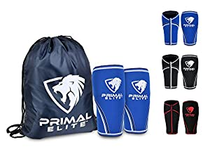 Knee Sleeve (Pair) Free Gym Bag - Squat Knee Support & Compression Brace for Powerlifting, Weightlifting, Crossfit WOD , Bodybuilding & MMA - 7mm Thick Neoprene Knee Sleeves - For Men & Women