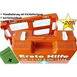 Erste-Hilfe-Koffer M1 PLUS für Betriebe DIN 13157 EN 13157 + DIN 13164 für KFZ - incl. Verbandbuch & Wundreinigung
