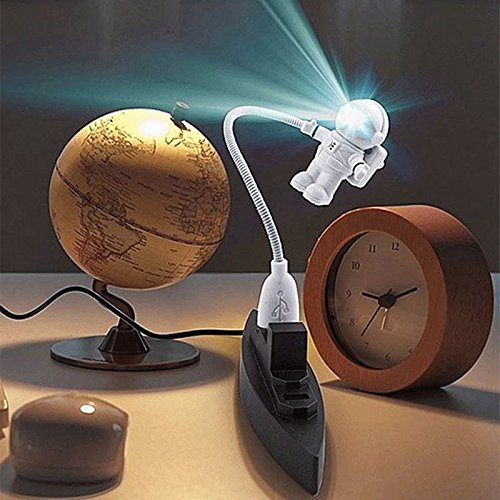 Flexible Spaceman Astronaut USB Tube ABS+PC Mini LED Night Light White Lamp For Computer Laptop PC Notebook Reading Portable (Skechers Power Switch compare prices)