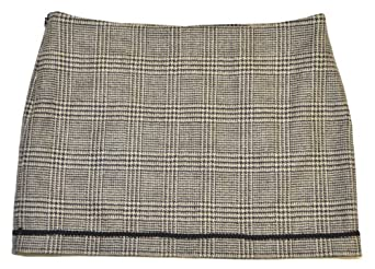 Royal Cult Womens Wool Fashion Mini Skirt (0, Gray/black)
