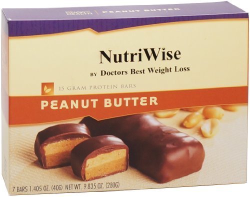 Nutriwise - Peanut Butter Diet Protein Bars (7 Bars)
