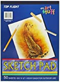 Top Flight Sketch Pad, Heavy Back, 8.75 x 12-Inches, 50 Sheets (62301)