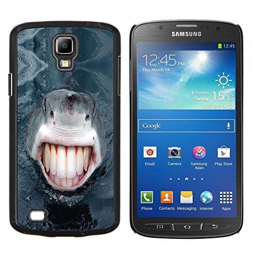 STAR ECELLPHONE CASE // Kühles Foto Hülle Hart Schutzhülle PC HandyHülle / Hard Case for Samsung Galaxy S4 Active i9295 - Lustiges Lol Menschen Haifisch-Zähne -Funny Lol Human Shark Teeth