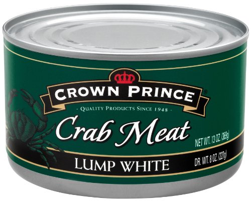 Crown Prince Lump White Crab Meat, 13-Ounce Cans (Pack of 12) (Can Crab Meat compare prices)