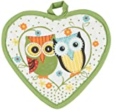 Kay Dee R1232 Life'S A Hoot Heart Shaped Potholder