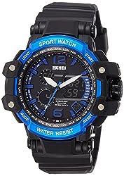 Skmei Analog-Digital Blue Dial Mens Watch - 1137BBBL