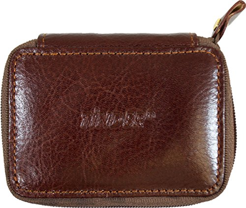 Tinder Genuine Cowhide Leather(From Italy) Women'S Make Up Case W/ Mirror Highest Standard Workmanship Wh503-Wk