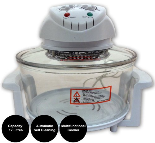 Sherwood Home 1400W Self Cleaning 12 Litre Halogen Oven + 3 FREE COOKBOOKS!