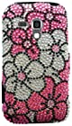 CP 817760027082 Rhinestone Hard Case for Samsung Galaxy Rush M830 - 1 Pack - Non-Retail Packaging - Pink Flower