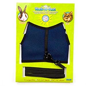 """Ware Nylon Walk-N-Vest Small Pet Harness and Leash, Extra Large """"Color May Vary"""""""