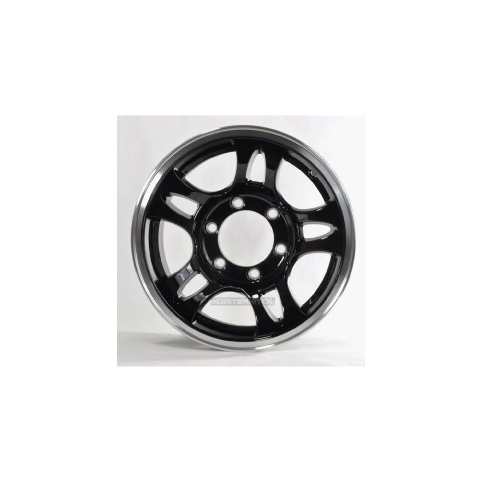 Two Boat Trailer Rims Wheels 15 in 15X6 5 Lug Hole Bolt Silver Modular Design