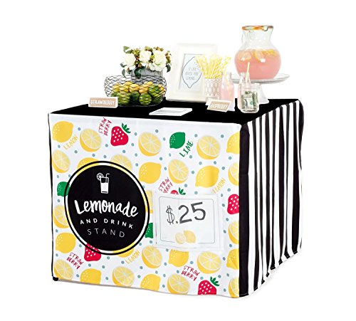 Easy Lemonade Stand for Kids with Nothing to Assemble! Fits a Square Card Table for an Easy Summertime Biz. (Alex Lemonade Stand compare prices)