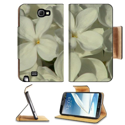 Bunches White Lilac Flowers Fragrant Pretty Fresh Petals Samsung Galaxy Note 2 N7100 Flip Case Stand Magnetic Cover Open Ports Customized Made To Order Support Ready Premium Deluxe Pu Leather 6 1/16 Inch (154Mm) X 3 5/16 Inch (84Mm) X 9/16 Inch (14Mm) Lii front-971317