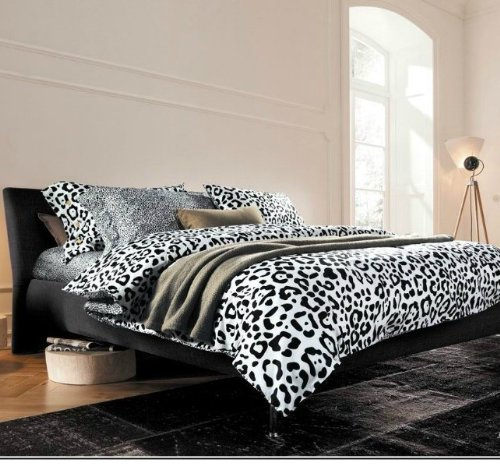 White Leopard Bedding