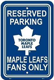 NHL Toronto Maple Leafs Plastic Parking Sign