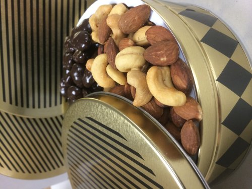 Deluxe Mixed Nuts with Dark Chocolate Almonds — Tasteful Mother's Day Gift Basket Handcrafted by the Nut Roaster's Reserve