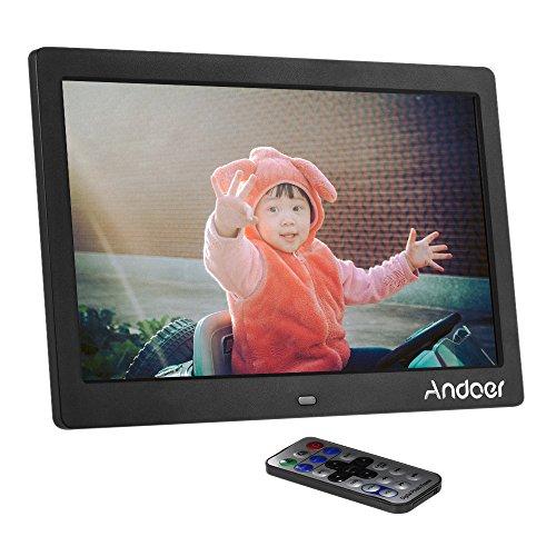 """Andoer 10 """"Cadres photo numériques HD LCD haute résolution MP4 1024x600 Horloge Lecteur MP3 Vidéo avec télécommande"""
