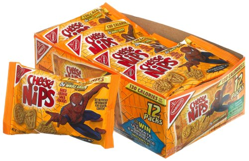 Buy Cheese Nips Spiderman Cheddar, 1-Ounce Singel Serve Bags (Pack of 48) (Cheese Nips, Health & Personal Care, Products, Food & Snacks, Snacks Cookies & Candy, Snack Food, Crackers)