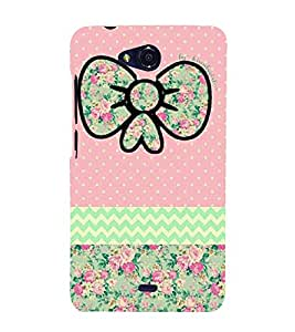 Floral Pattern 3D Hard Polycarbonate Designer Back Case Cover for Micromax Canvas Play Q355