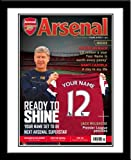 Arsenal FC Personalised Match Day Magazine - FREE P&P!!!