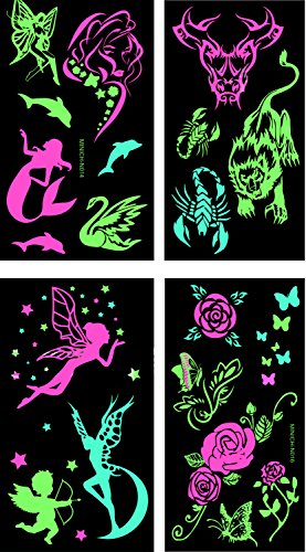 premium-glow-in-the-dark-tattoos-glowing-temporary-tattoo-shimmer-gold-temporary-fake-jewelry-fluore