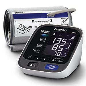 Click to buy Omron BP785 10 Series Upper Arm Blood Pressure Monitor, Black/white, Large from Amazon!