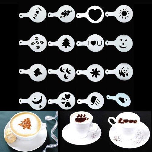 Estone Lot de 16 pochoirs pour décoration sur café