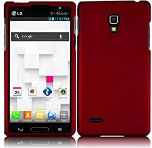 Red Hard Case Snap On Rubberized Cover For LG Optimus L9 P769 (T-Mobile)