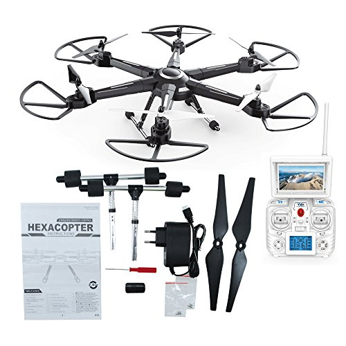 XuanLei Headless Mode 6-Axis 2.4GHZ RC Quadcopter Drone with 5.8G 2MP HD Camera Real Time Transmission FPV LCD Monitor