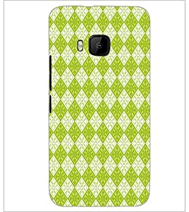PrintDhaba Diamond Pattern D-5916 Back Case Cover for HTC ONE M9S (Multi-Coloured)