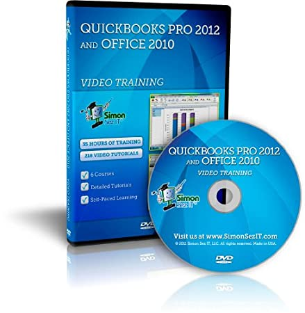 Quickbooks Pro 2012 and Microsoft Office 2010 Training DVD - by Simon Sez IT