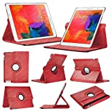 Stuff4 Diamond Designed Case with 360 Degree Rotating Swivel Action and Screen Protector/Stylus Touch Pen for 8.4 inch Samsung Galaxy Tab Pro T320/T321/T325 - Red