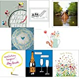 Greeting cards collection. Smile 1 - 8 contemporary and humorous cards. Premium quality birthday cards.by Squashed Tomato