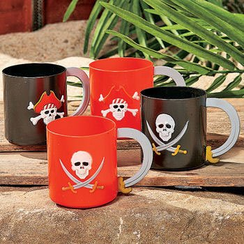 Plastic Pirate Mug (1 ct)