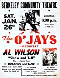 THE O JAYS REPRODUCTION CONCERT POSTER NO.1 16X12