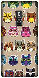 The Racoon Lean printed designer hard back mobile phone case cover for OnePlus 2. (owls)