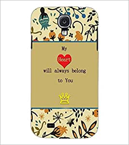 PrintDhaba Quote D-3670 Back Case Cover for SAMSUNG GALAXY S4 (Multi-Coloured)