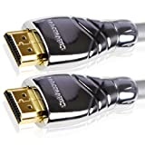 Maestro 2m Ultra Advanced High Speed HDMI Cable. Advanced display resolutions. Capable beyond 1080p to 2160p. With Ethernet & Latest 1.4a Version. Audio Return Channel. Professional Grade built. Nylon Braided. Deep Colour. Metal Die-cast casing.by Cablesson