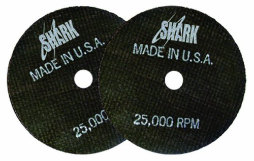 Shark 12704 3-Inch by 1/16-Inch by 3/8-Inch Double Reinforced Cut-off Wheels, 54-Grit, 10-Pack