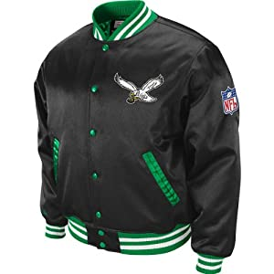 Mitchell & Ness Philadelphia Eagles Mens Big & Tall Screen Pass Satin Jacket by Mitchell & Ness