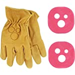 Holesom Slide Gloves L/Xl - Tan W/Bubble Gum Pucks
