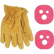 Holesom Slide Gloves L/Xl - Tan W/Bubble Gum Pucks
