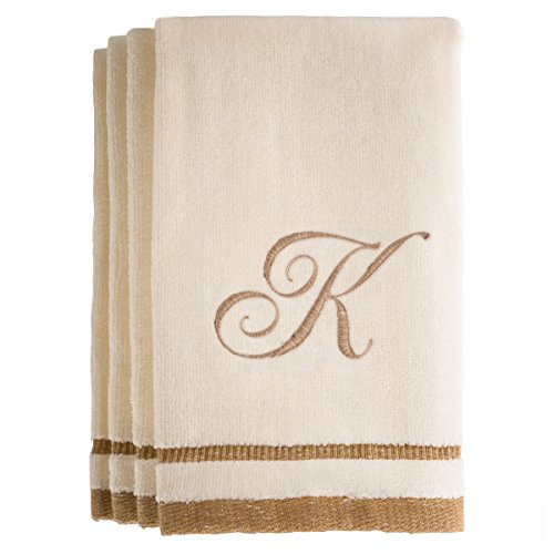 monogrammed-gifts-fingertip-towels-11-x-18-inches-set-of-4-decorative-golden-brown-embroidered-towel