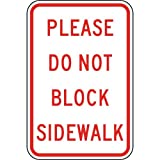 ComplianceSigns Aluminum Parking Control Sign, Reflective 18 x 12 in. with Parking Not Allowed info in English, White