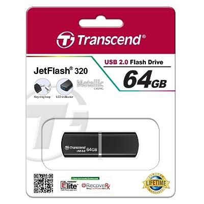 Transcend Jetflash 320 64 GB USB 2.0 Pen Drive Black(TS64GJF320K)