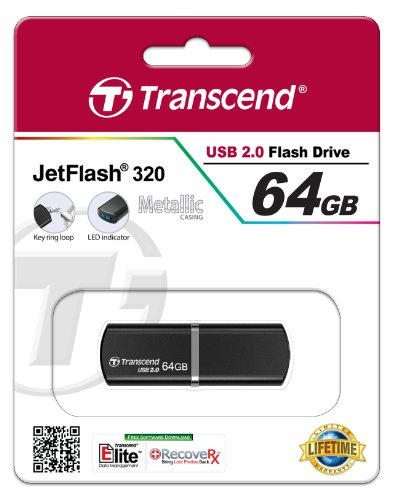 Transcend JetFlash 320 64GB USB 2.0 Pen Drive