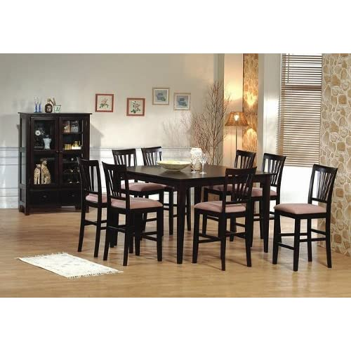 Amazoncom 9pc Cappuccino Wood Counter Height Dining  : 51ia t8REMLSS500 from amazon.com size 500 x 500 jpeg 48kB