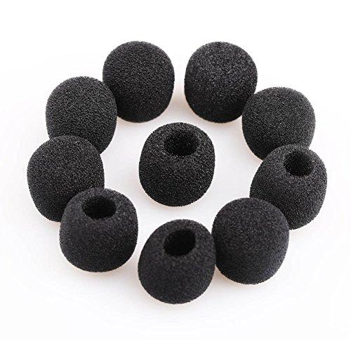 VERY100 Noir Mousse Petit Pare-Brise Couvre Pare-Brise pour Revers Micro-cravate (15pcs)